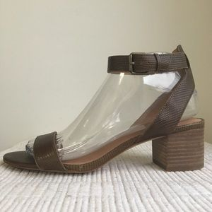Madewell sz 7.5 Sandals Alice in Python Texture